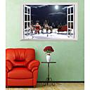 preiswerte Wand-Sticker-Dekorative Wand Sticker - 3D Wand Sticker / Menschen Wandaufkleber Tiere / Weihnachten Kindergarten / Kinderzimmer