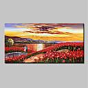 levne Abstraktní malby-Hang-malované olejomalba Ručně malované - Abstraktní Krajina Moderní Obsahovat vnitřní rám / Reprodukce plátna