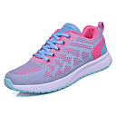 cheap Women's Athletic Shoes-Women's Shoes PU(Polyurethane) / Elastic Fabric Summer Comfort Athletic Shoes Walking Shoes Flat Heel Round Toe Black / Blue / Pink