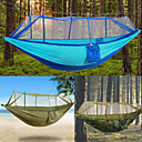 cheap Camping Furniture-2 persons Camping Hammock with Mosquito Net Rope Bags Tie Wrap Padlock Moistureproof/Moisture Permeability Well-ventilated Ultra Light