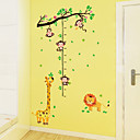 billige Syntetiske parykker-Højde klistermærker - Animal Wall Stickers Dyr Stue / Soveværelse / Badeværelse