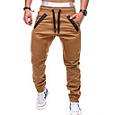 cheap Men's Bracelets-Men's Pocket / Beam Foot Jogger Pants / Running Pants - Grey, Khaki, Dark Navy Sports Color Block Pants / Trousers Fitness, Gym, Workout Activewear Breathable, Thermal / Warm, Sweat-wicking / Winter
