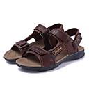 tanie Sandały męskie-Męskie Komfortowe buty Skóra nappa Lato Na co dzień Sandały Light Brown / Dark Brown / Khaki