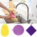 billige Kjøkkenrengjøringsmidler-Kjøkken Vaskemidler Silikon Rengjøringsbørste og klut Enkel / Universell / Verktøy 3pcs