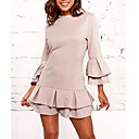 cheap Women's Heels-Women's Basic Flare Sleeve A Line Dress - Solid Colored