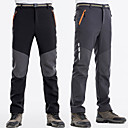 cheap Softshell, Fleece & Hiking Jackets-Men's Hiking Pants Outdoor Windproof Fast Dry Anatomic Design Winter Pants / Trousers Hunting Fishing Hiking Black Dark Grey XXL XXXL 4XL / Stretchy