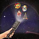billige Ferieprodukter-ledd håndholdt projektor lysbatteri-operert 2 i 1 dekorasjonslampe 4slides projeksjon ferie lys for feiring jul halloween og bursdag dekorasjon