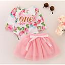 povoljno Kompletići za Za dječake bebe-Dijete Djevojčice Osnovni / slatko Cvjetni print Print Dugih rukava Pamuk Haljina