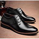 זול נעלי אוקספורד לגברים-בגדי ריקוד גברים נעלי נוחות מיקרופייבר קיץ & אביב יום יומי נעלי אוקספורד שחור / חום