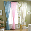 """cheap Curtains & Drapes-Ready Made Sheer Sheer Curtains Shades Two Panels 2*(59W×106""""L) Green / Embroidery / Living Room"""