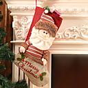 tanie Naklejki ścienne-Pończochy / Ozdoby świąteczne Święto Tkanina bawełniana Kwadrat Nowość Świąteczna dekoracja