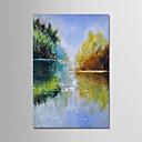 billige Trykk-Hang malte oljemaleri Håndmalte - Still Life Moderne Lerret