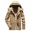 hesapli Köpek Giyimi-Erkek Kapşonlu Solid Ceketler / Uzun Kollu
