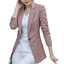 cheap Women's Athletic Shoes-women's going out blazer-solid colored peter pan collar