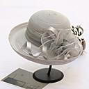 זול הד פיס למסיבות-אורגנזה כובעים עם פרח 1pc חתונה / מסיבה\אירוע ערב כיסוי ראש