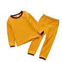 זול הלבשה תחתונה וגרביים לתינוקות-לבוש שינה שרוול קצר אחיד בנות תִינוֹק