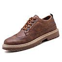 זול נעלי אוקספורד לגברים-בגדי ריקוד גברים נעלי נוחות PU סתיו בריטי נעלי אוקספורד ללא החלקה שחור / חום