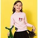 povoljno Kompletići za djevojčice-Djeca Djevojčice Osnovni Print Dugih rukava Regularna Poliester Džemper i kardigan Blushing Pink 140
