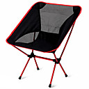 cheap Tents, Canopies & Shelters-Camping Folding Chair Outdoor Lightweight Aluminium Alloy 7005, Oxford Cloth for Fishing / Beach / Camping - 1 person Orange / Dark Blue