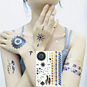 billige Syntetiske parykker uden hætte-3 pcs Midlertidige Tatoveringer Blomster Serier / Tegneserie Serie Øko Venlig / Nyt Design Kropskunst Ansigt / Krop / arm / Decal-stil midlertidige tatoveringer