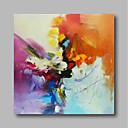 tanie Mocowanie przysufitowe-Hang-Malowane obraz olejny Ręcznie malowane - Abstrakcja Nowoczesne / Nowoczesny Płótno / Rozciągnięte płótno