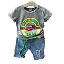 ieftine Pantaloni Băieți-Copil Băieți De Bază Mată Manșon scurt Poliester Set Îmbrăcăminte Alb 100