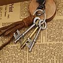 hesapli Anahtarlık Hediyelikleri-Anahtarlık Kahverengi Anahtar Deri, alaşım Günlük, Moda Uyumluluk Randevu / Cadde