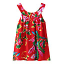 cheap LED String Lights-Kids / Toddler Girls' Active / Basic Going out Floral / Print / Jacquard Print Sleeveless Cotton Tee