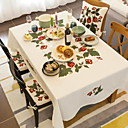 cheap Table Cloths-Contemporary Nonwoven Square Table Cloth Geometric Table Decorations 1 pcs