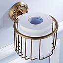 billiga Badrumsinredning-Toalettpappershållare Ny Design Antik Mässing 1st Väggmonterad