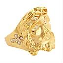 preiswerte Ringe-Herrn Vintage Stil 3D Bandring - 18K vergoldet, vergoldet Kreuz, Kreativ Einzigartiges Design, Retro Schmuck Gold Für Alltag Arbeit 9 / 10