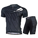 cheap Cycling Jackets-Nuckily Men's Cycling Jersey with Shorts - Black Blue Bike Clothing Suit UV Resistant Quick Dry Ultraviolet Resistant Reflective Strips Back Pocket Sports Polyester Lycra Mountain Bike MTB Road Bike
