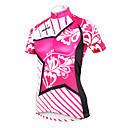 cheap Cycling Pants, Shorts, Tights-ILPALADINO Women's Short Sleeve Cycling Jersey - Yan pink Floral / Botanical Plus Size Bike Jersey Top Breathable Quick Dry Ultraviolet Resistant Sports Polyester 100% Polyester Terylene Mountain