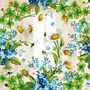 abordables Pelucas Sintéticas de Malla-Ventana de película y pegatinas Decoración Floral Floral CLORURO DE POLIVINILO Adhesivo para Ventana