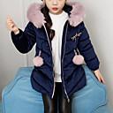 tanie Kurtki i płaszcze dla dziewczynek-Dzieci Dla dziewczynek Aktywny / Moda miejska Codzienny / Wyjściowe Patchwork Patchwork Długi rękaw Długie Poliester Odzież puchowa / pikowana Rumiany róż 140