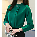 cheap Human Hair Capless Wigs-Women's Basic Blouse - Solid Colored