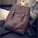お買い得  バックパック-女性用 バッグ PU スクールバッグ ジッパー ブラック / Brown