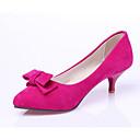 baratos Sapatos de Dança Latina-Mulheres Stiletto Camurça Primavera Saltos Salto Agulha Bege / Vermelho / Azul