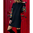 cheap Cell Phones-Women's Daily Going out Basic Street chic Shift Dress - Solid Colored Print Fall Black M L XL / Sexy