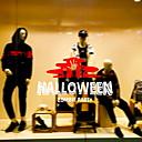 halpa Synteettiset peruukit ilmanmyssyä-Ikkunalevy ja tarrat Koriste Halloween Loma PVC Ikkunatarra