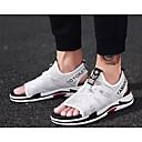 tanie Sandały męskie-Męskie Komfortowe buty Siateczka Lato Sandały Biały / Czarny / Szary