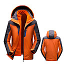 cheap Softshell, Fleece & Hiking Jackets-Men's Hoodie & Sweatshirt Hiking Fleece Jacket Hiking Jacket outdoor Autumn / Fall Spring Winter Windproof Rain-Proof Breathability Wearable Chinlon 3-in-1 Jacket Top Single Slider Camping / Hiking