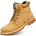 cheap Men's Boots-Men's Combat Boots Nappa Leather Winter Casual Boots Keep Warm Booties / Ankle Boots Yellow