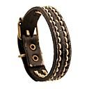 cheap Men's Bracelets-Women's Vintage Style Braided Leather Bracelet Loom Bracelet - Leather Wave Ladies, Stylish, Vintage, Punk Bracelet Jewelry Coffee / Brown / Green For Gift Street