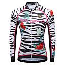 povoljno Biciklističke majice-Malciklo Žene Dugih rukava Biciklistička majica Crn Obala Crvena Cvjetni / Botanički Zebra Veći konfekcijski brojevi Bicikl Biciklistička majica Majice Prozračnost Quick dry Reflektirajuće trake