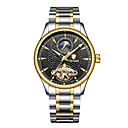 cheap Human Hair Wigs-Tevise Men's Mechanical Watch Japanese Automatic self-winding Silver / Gold 30 m Water Resistant / Water Proof Hollow Engraving Noctilucent Analog Luxury Fashion - Blue Gold / Silver / Black