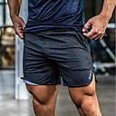 baratos Adesivos de Parede-Homens Bolsos Shorts de Corrida - Preto, Cinzento Escuro, Cinzento Esportes Côr Sólida Calças Fitness, Ginásio, Exercite-se Roupas Esportivas Leve, Respirável, Macio Com Stretch Solto