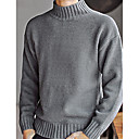 cheap Camp Kitchen-Men's Weekend Long Sleeve Pullover - Solid Colored Turtleneck