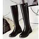 Χαμηλού Κόστους Γυναικείες Μπότες-Γυναικεία Fashion Boots Σουέτ / Νάπα Leather Φθινόπωρο Μπότες Χαμηλό τακούνι Μυτερή Μύτη Ψηλές μπότες Σατέν Λουλούδι Μαύρο