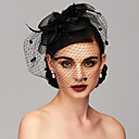 cheap Party Headpieces-Feather / Net Kentucky Derby Hat / Fascinators / Headpiece with Feather / Floral / Flower 1pc Wedding / Special Occasion Headpiece